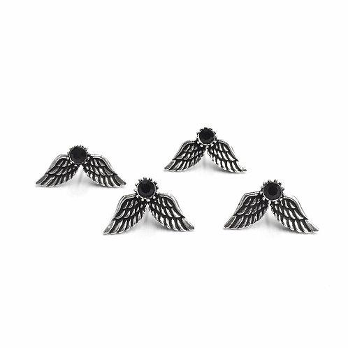 Black Wings Earstud