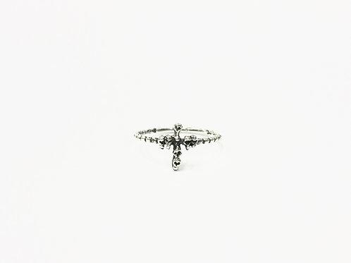 Skull-cross on ball-ring