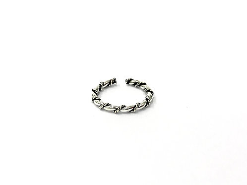 Twist-plain toe ring (#7321-17)