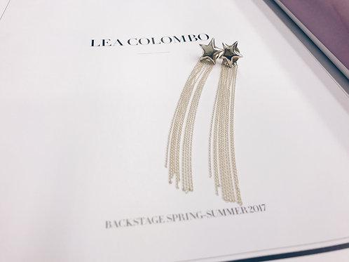 Star dust chain earring