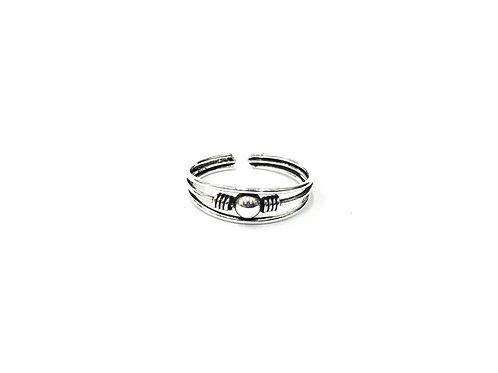 1-ball bali style toe ring (#7321-31)
