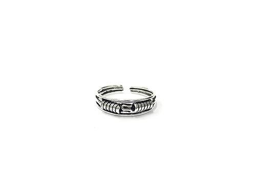 Mid-weaving bali style toe ring (#7321-37)