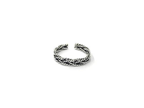 Braid twist flatten toe ring (#7321-52)