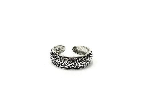 Swirl pattern toe ring (#7321-9)