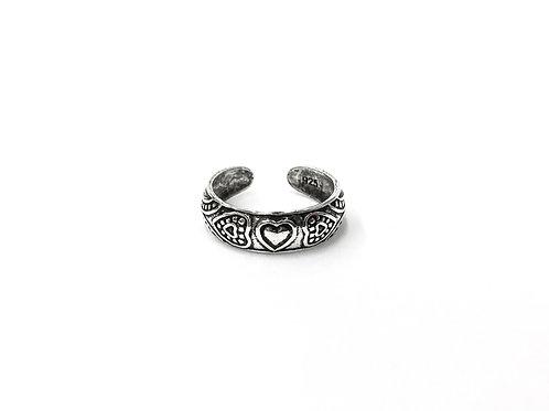 Bali style heat toe ring (#7321-11)