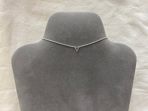 Open triangle necklace (#A0996N)