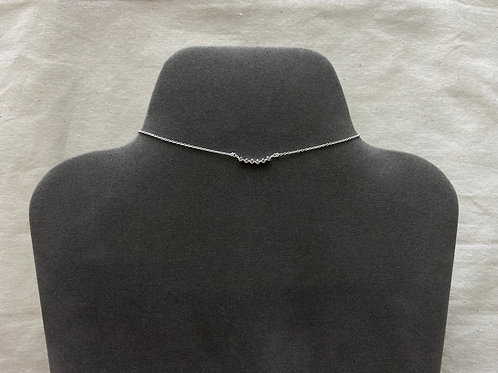 6 curved crystal necklace (#N087)