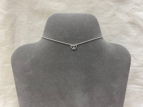 Double open heart necklace (#A0236N)