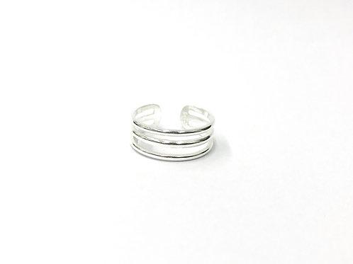 Triple plain toe ring (#7321-3)