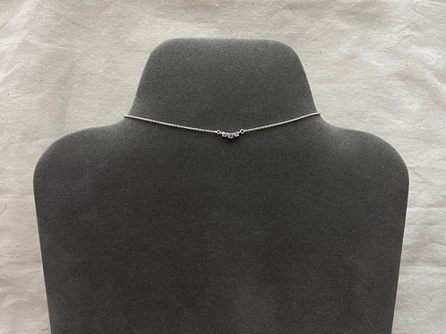 3 curved cystal necklace (#N094)