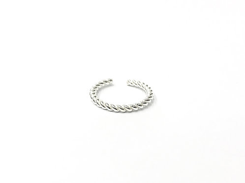 Thick twisted toe ring (#7321-15)