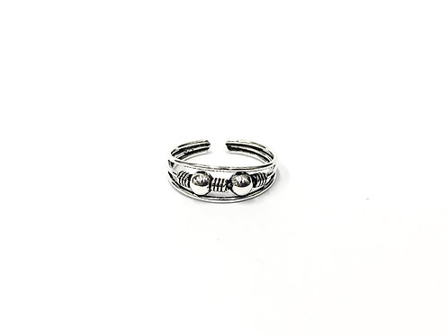 2-ball bali style toe ring (#7321-27)