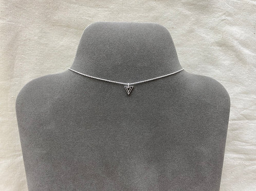 Doub open triangle necklace (#A1243N)