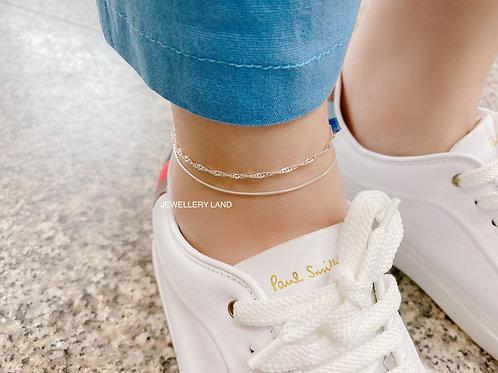Singapore twist anklet 22cm (#9707)