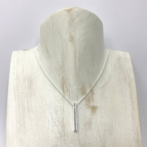 Verticle shiny sq-bar necklace (#N65/HP)