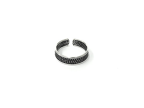 3-row twisted toe ring (#7321-68)