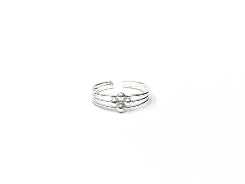 4-ball in 3-wire toe ring (#7321-22)