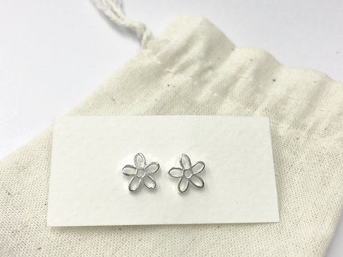 Open flower ear stud (#A1098E)