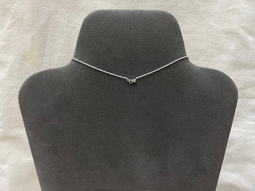 Tiny doub-honeycomb w/ crystal necklace (#A1326N)