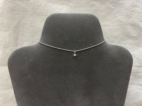 Flat shining star necklace (#A1312N)