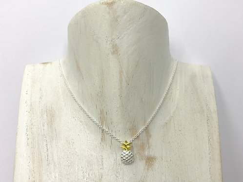 Pineapple (in goldplate) necklace (#A0930N)