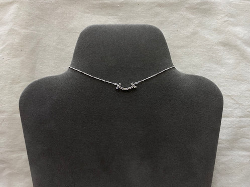 Smiley crystal necklace (#N093)