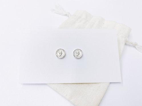Tiny Elizabeth coin ear stud (#A1480E)