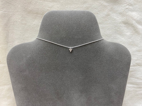 Satin triangle pendant necklace (#A0997N)