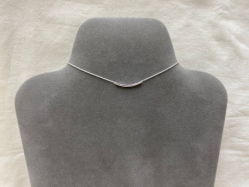 Curved bar necklace (#N017/HP)