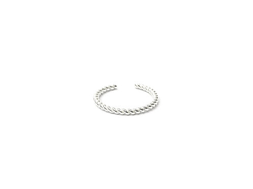 Thin twisted toe ring (#7321-14)