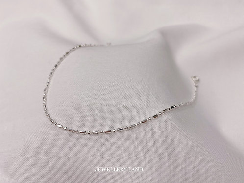 Mixed ball di-cut anklet 22cm (#MD015)