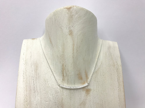 Satin curve-bar necklace (#N017/SC)