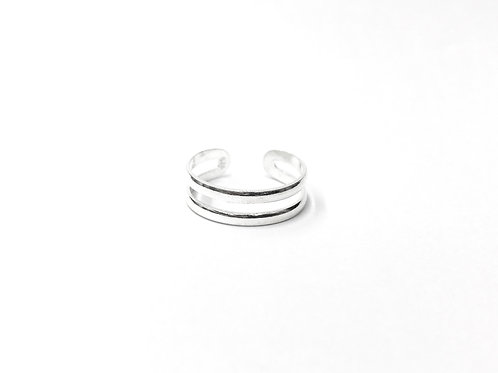 Parallel plain toe ring (#7321-4)