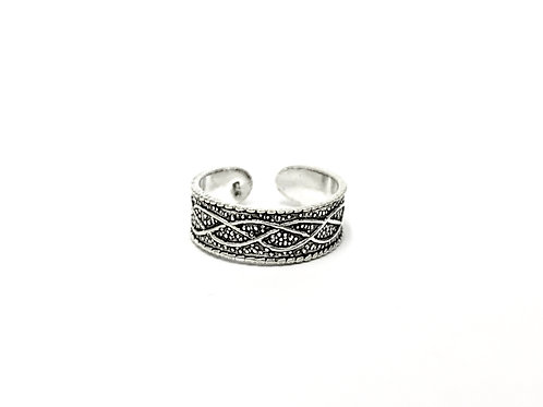 Weavin pattern toe ring (#7321-76)