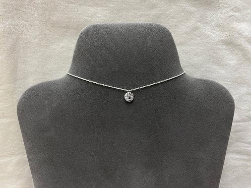 9mm flat hammered design necklace (#A1484N)