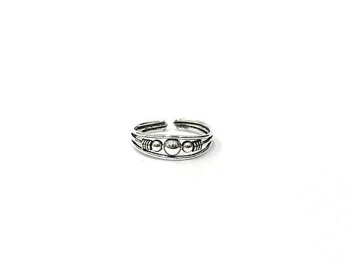 3-ball bali style toe ring (#7321-34)