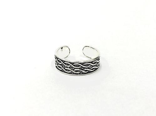 Weavy pattern toe ring (#7321)