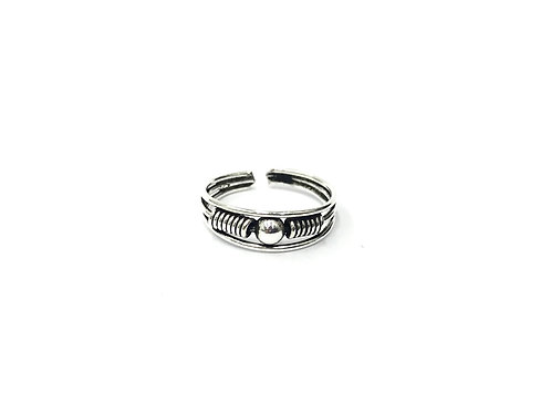 1-ball bali style toe ring (#7321-30)