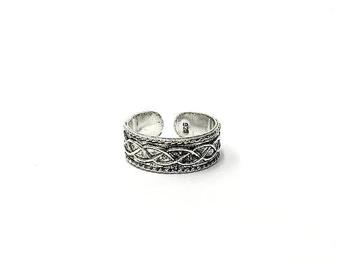 Weaving pattern toe ring (#7321-76)