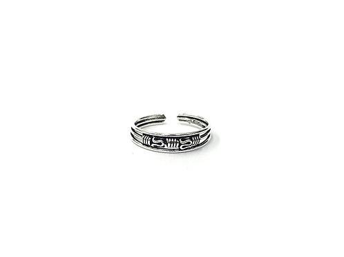 Short weaving bali style toe ring (#7321-38)