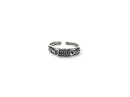 Weaving twisted bali style toe ring (#7321-40)
