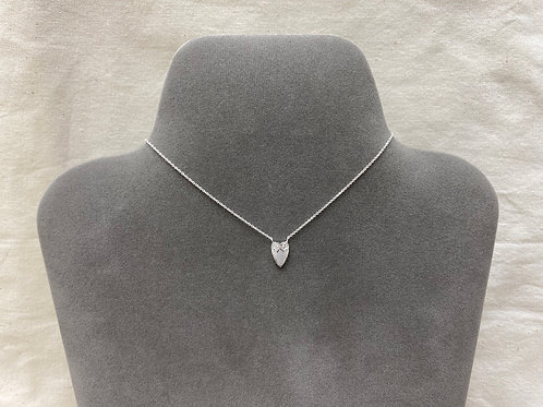 Engraved heart necklace (#A0526N)