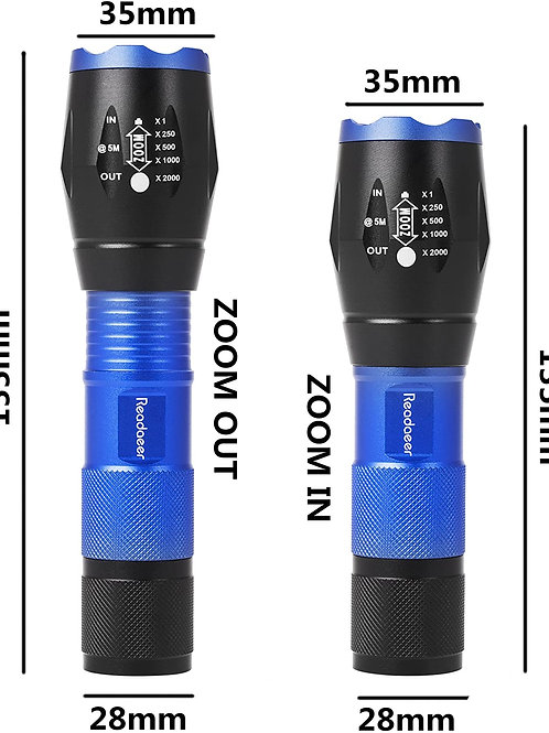 Outdoor Camping LED Taschenlampe/Handlampe Zoombar IPX6 Wasserdicht