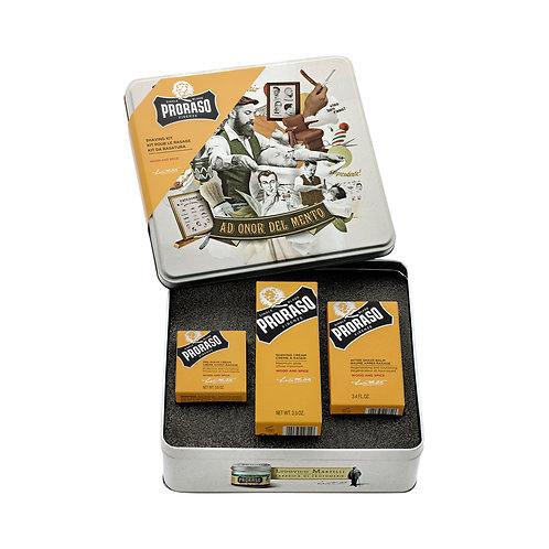Proraso Wood & Spice 3-teiliges Rasurpflegeset