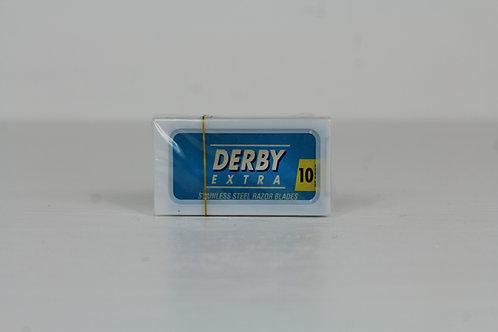 Derby Blau 10 Rasierklingen