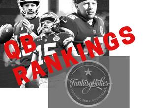 FantasyHolics Week 8 QB Rankings