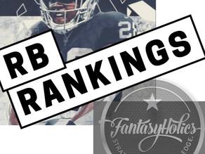 FantasyHolics Week 10 RB Rankings