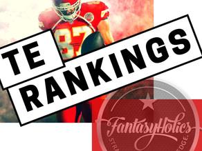 FantasyHolics Week 7 TE Rankings