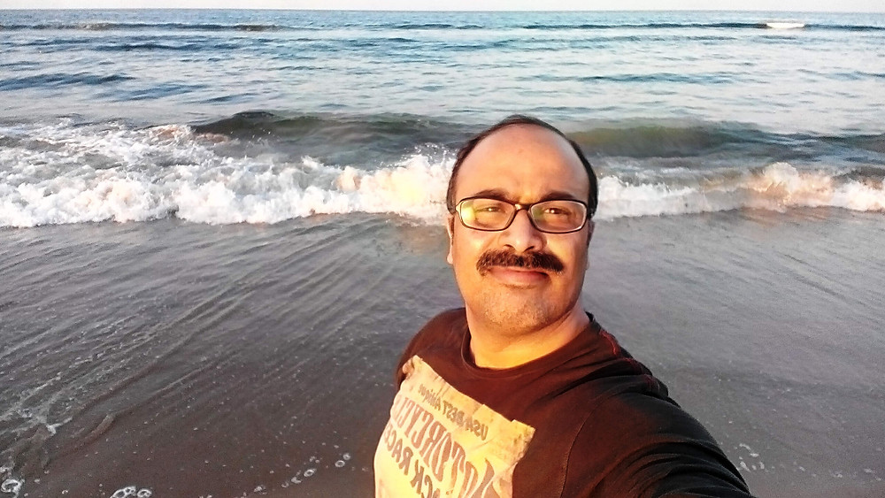 Prof. Dr. A. Rai at Marina beach