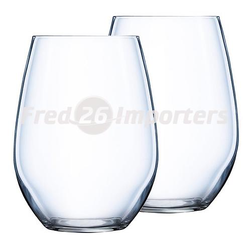 Luminarc Chef & Sommelier Domaine 16.75oz Stemless Wine, 4Pc. Set